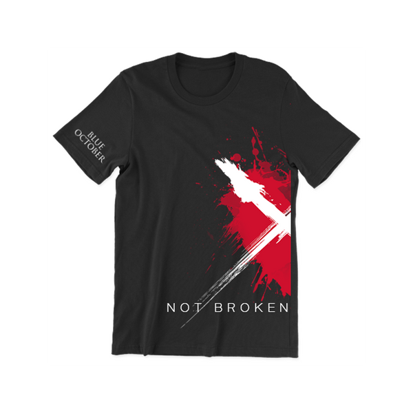 "Blue October - ""Not Broken"" Right Split Heart Tee"