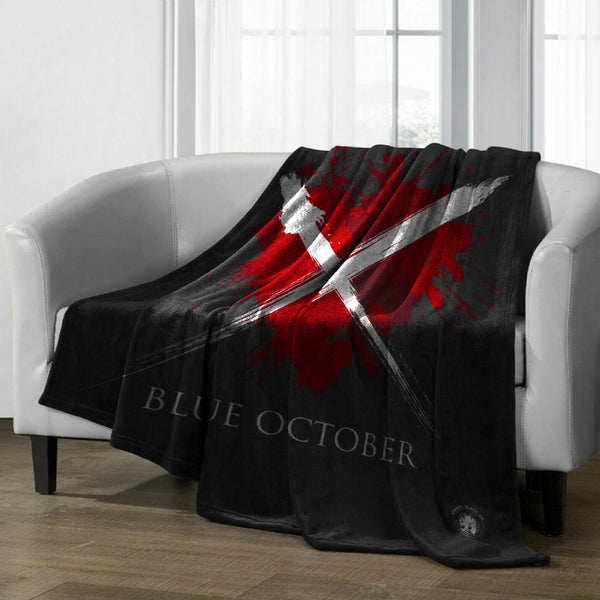 Blue October - Heart X Quilted Blanket