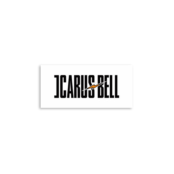 Icarus Bell - White Logo Sticker