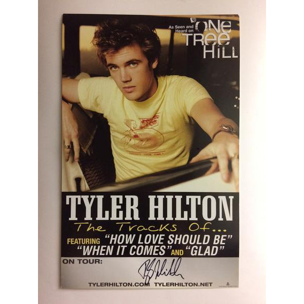 Tyler Hilton - The Tracks of Tyler Hilton Album Tour Promo Poster - Signed