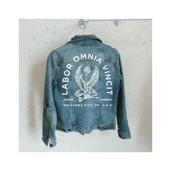 The Jones Assembly - Custom Logo Jean Jacket