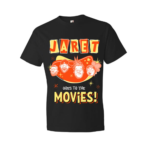 Jaret Goes To The Movies - Cartoon Faces Tee