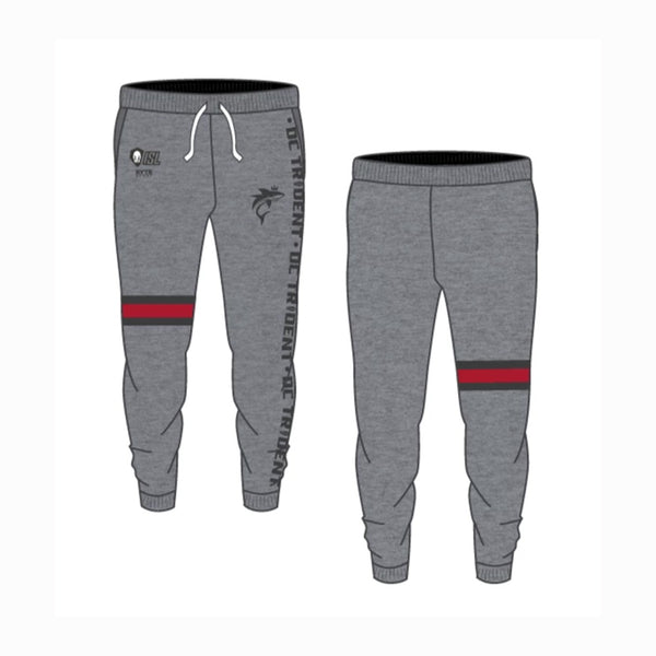 DC Trident - Heather Gray Adult Jogger Sweatpants