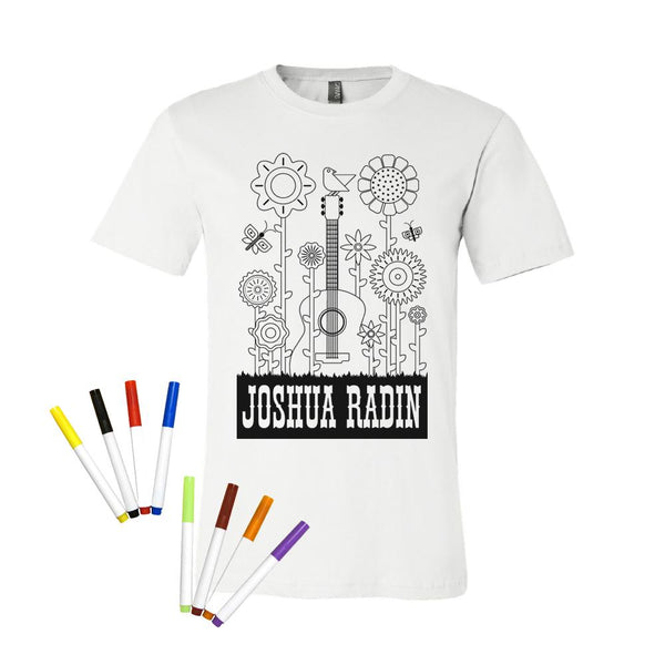 Joshua Radin - Flower Guitar Decoratable Tee