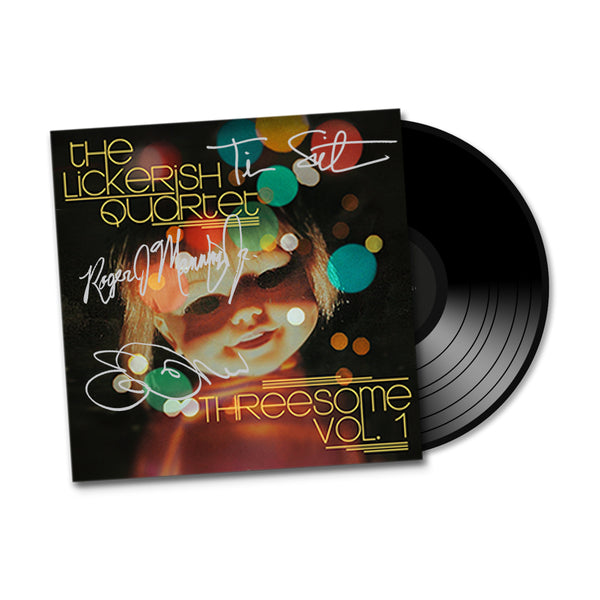 "The Lickerish Quartet - ""Threesome Vol. 1"" SIGNED EP, Colored Vinyl + Instrumental Versions"