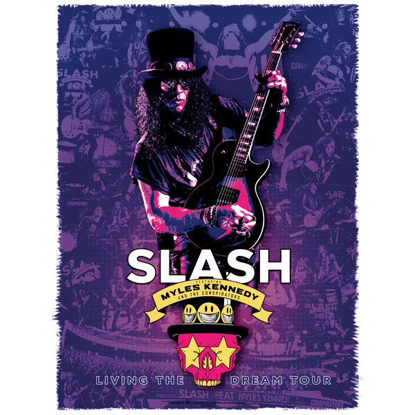 Slash Featuring Myles Kennedy & The Conspirators - Living The Dream Tour Poster Print