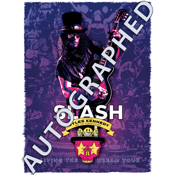 Slash Featuring Myles Kennedy & The Conspirators - Living The Dream Tour Autographed Poster Print