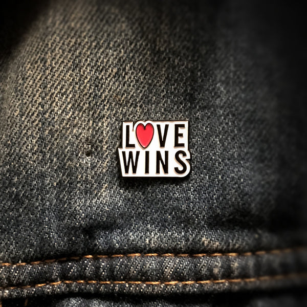 Matt Stansberry & The Romance - Love Wins Enamel Pin
