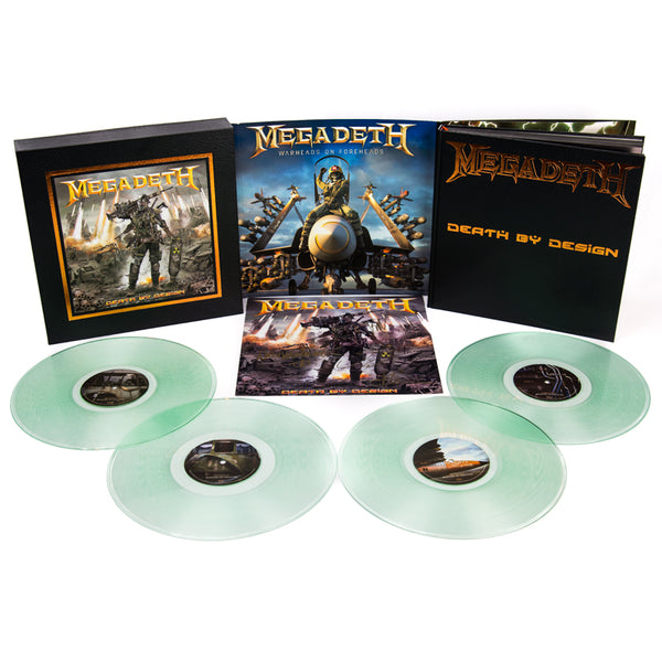 "Megadeth: Death By Design w/ 4 clear vinyl ""Warheads On Foreheads"" album set signed by Full Band"
