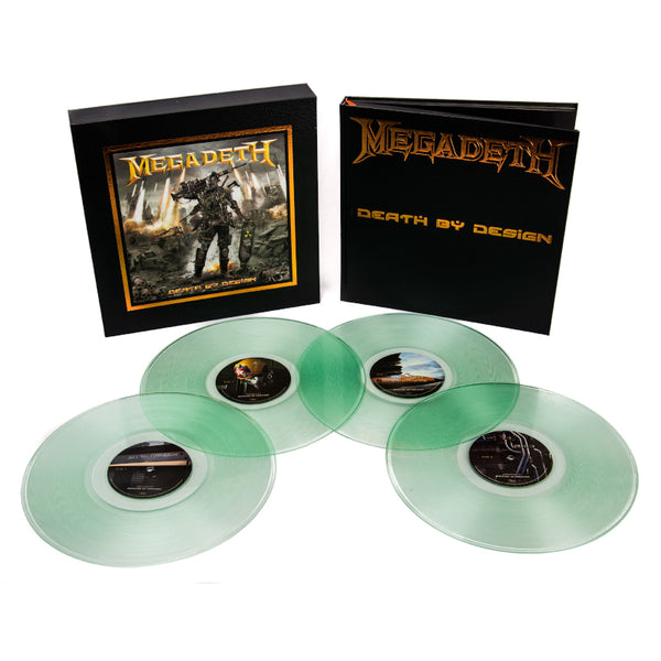 "Megadeth: Death By Design w/ 4 clear vinyl ""Warheads On Foreheads"""" album set signed by Dave Mustaine"