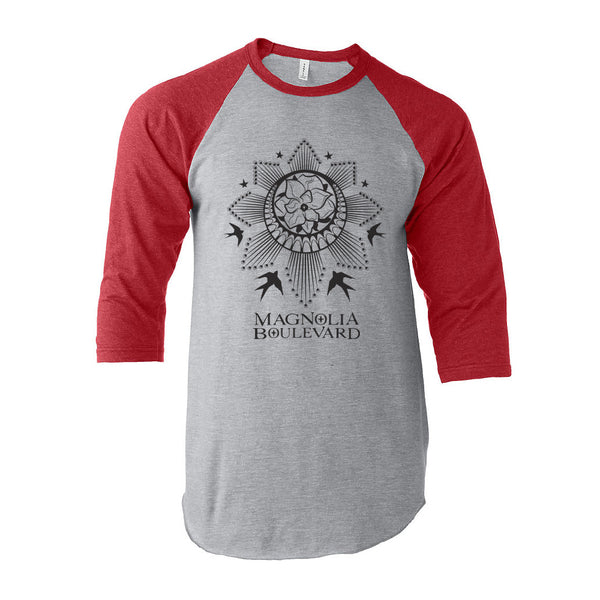 Magnolia Boulevard - Red/Gray Baseball Tee