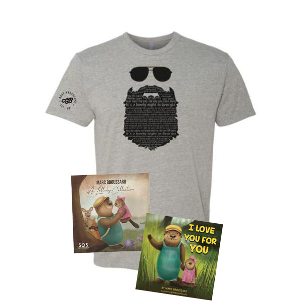 Marc Broussard - S.O.S. 3 Signed Book + CD + Tee Bundle