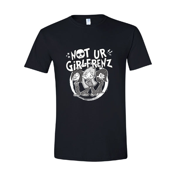 Not Ur Girlfrenz - Cartoon Logo Tee (Black)