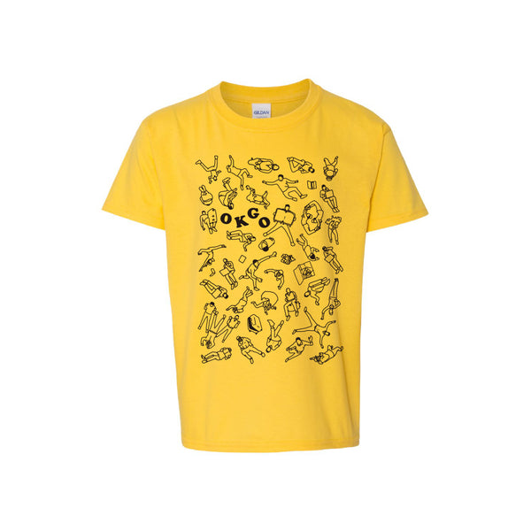 OK Go - Upside Down & Inside Out Collage Youth Tee (Yellow)