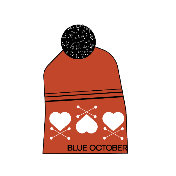Blue October - Heart X Bobble Beanie