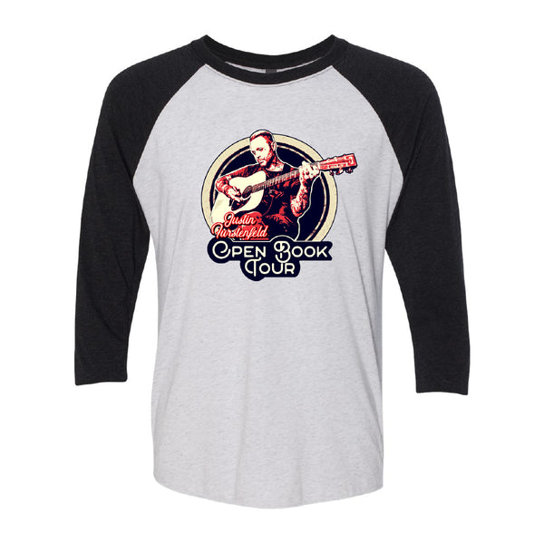 Justin Furstenfeld - Open Book 2019 Tour Baseball Tee