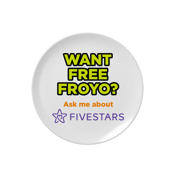 Orange Leaf Austin Uniform Store - Fivestars Pinback button