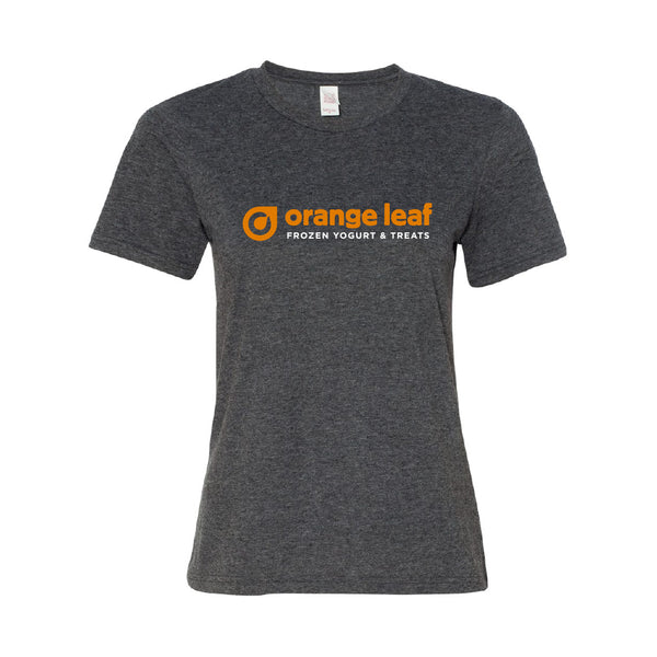 Orange Leaf Austin Uniform Store - Uniform Ladies Tee (Dark Heather Grey)