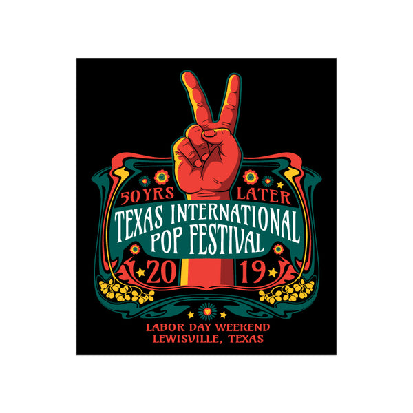 Texas International Pop Festival - Sticker