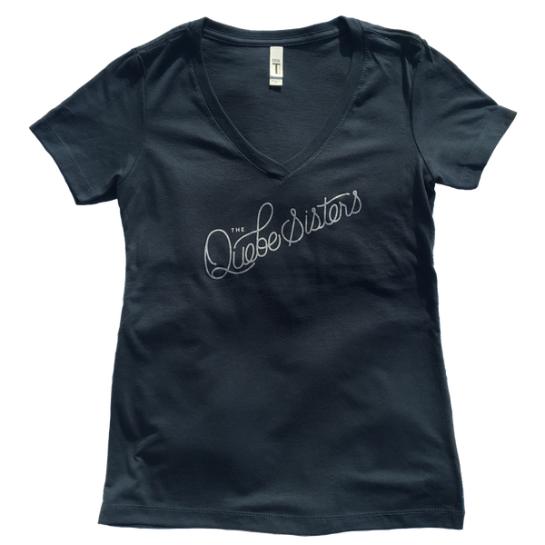 The Quebe Sisters - Indigo Ladies Logo Script Tee