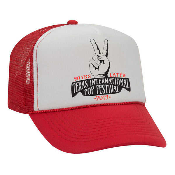 Texas International Pop Festival - Trucker Hat Red/White