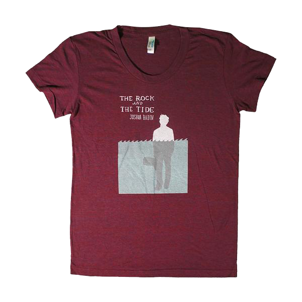 Joshua Radin - The Rock And The Tide Ladies Tee (Burgundy)
