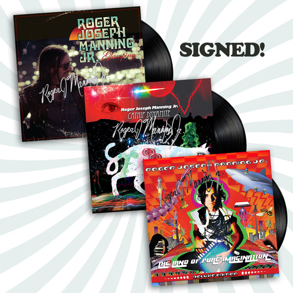 Roger Joseph Manning Jr. - Signed Vinyl LP Bundle