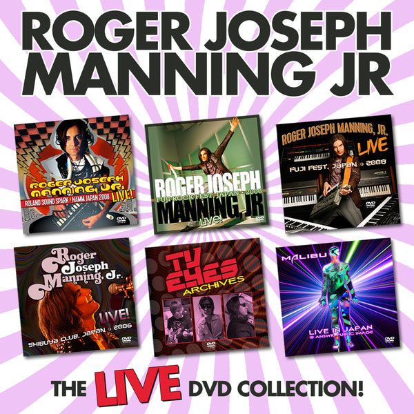 Roger Joseph Manning Jr. - Ultimate Live DVD Collection (PRESALE 01/01/21)