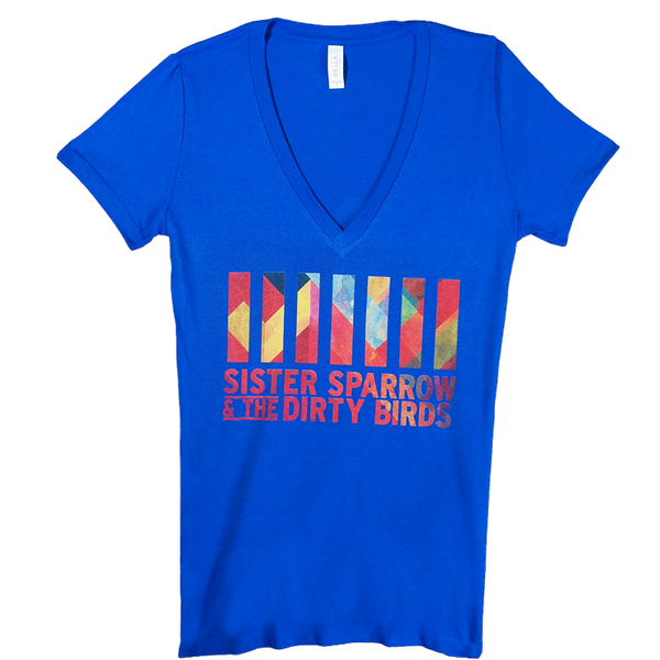 Sister Sparrow & The Dirty Birds - Logo Womens Tee (Blue)