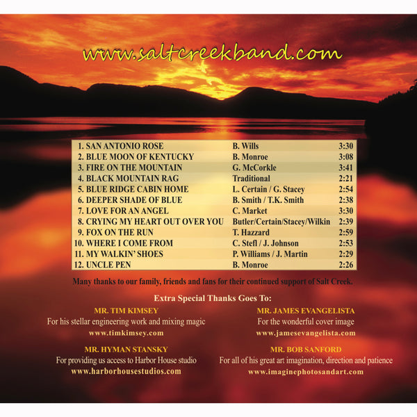 Salt Creek Bluegrass Band - Fire on the Mountain CD