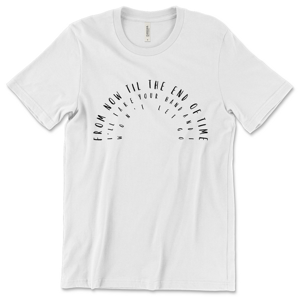 Lindsey Ray - Rainbow Tee - White (PRESALE Early June)