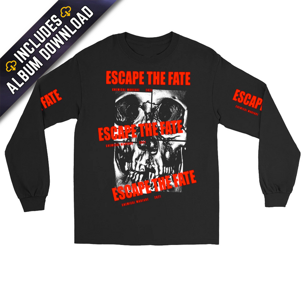 Escape The Fate - Chemical Warfare Long Sleeve Skull Tee (PRESALE 02/19/21)