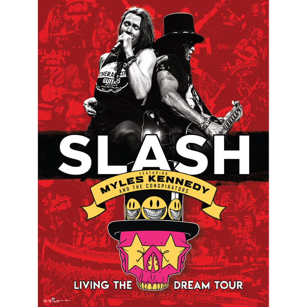 Slash Featuring Myles Kennedy & The Conspirators - Living The Dream Tour Poster
