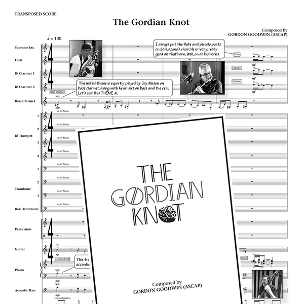 Gordon Goodwin's Big Phat Band - The Gordian Knot Souvenir Score Book