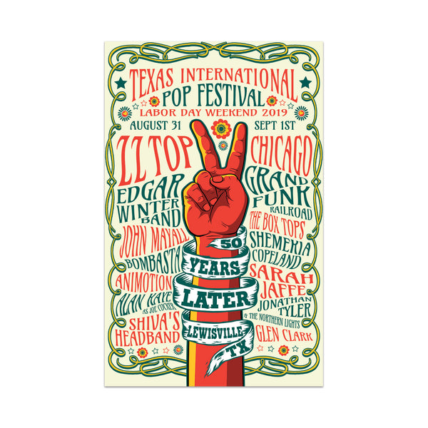 Texas International Pop Festival - Limited Edition Screenprint Poster