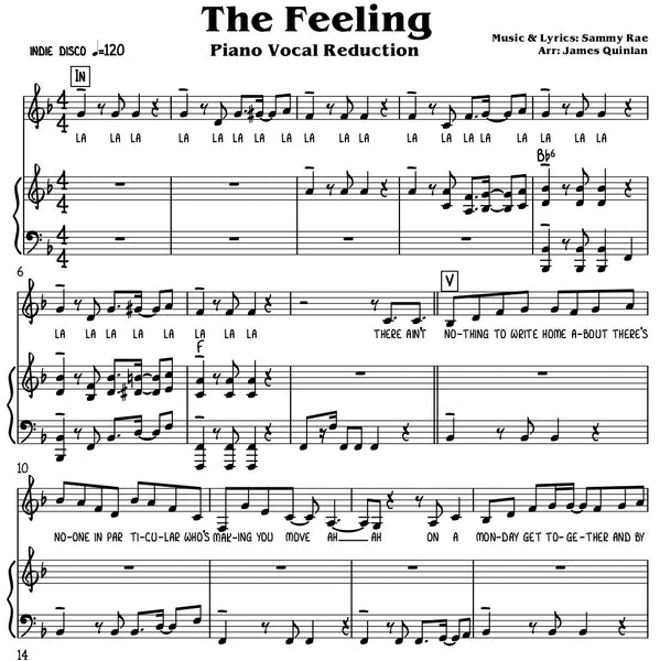 Sammy Rae - The Feeling Transcription Download