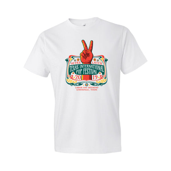 Texas International Pop Festival - Full Size Logo Tee (White)