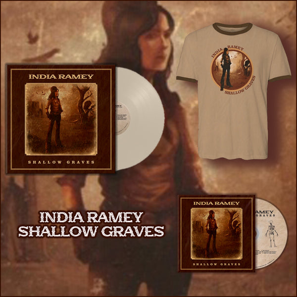 India Ramey - Signed Vinyl Signed CD and Ringer Tee Bundle (PRESALE)