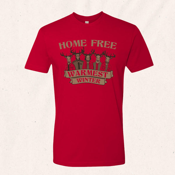 Home Free - Warmest Winter Reindeer T-Shirt