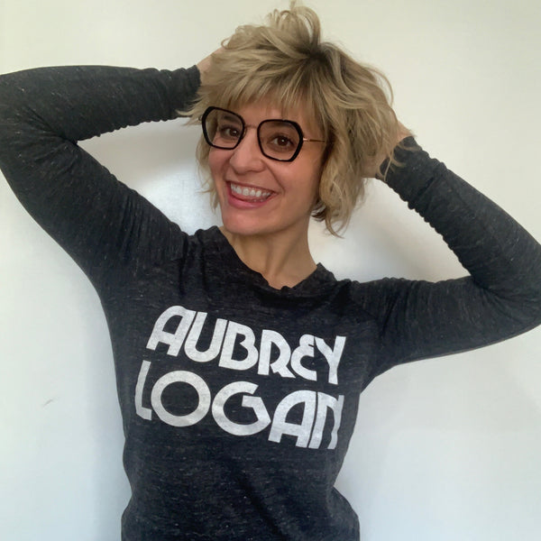 Aubrey Logan - Womens Long Sleeve Tee (Dark Gray)