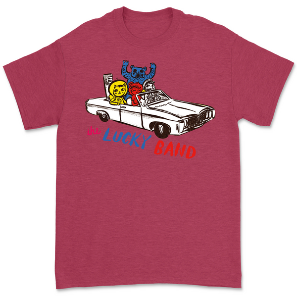 The Lucky Band - Red Car Tee  (PRESALE EARLY NOVEMBER)