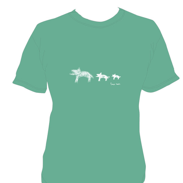 Low Roar - Animals Unisex Green T-Shirt
