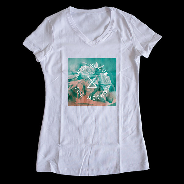 Andy Suzuki & The Method - Flower Logo Ladies V-Neck Tee