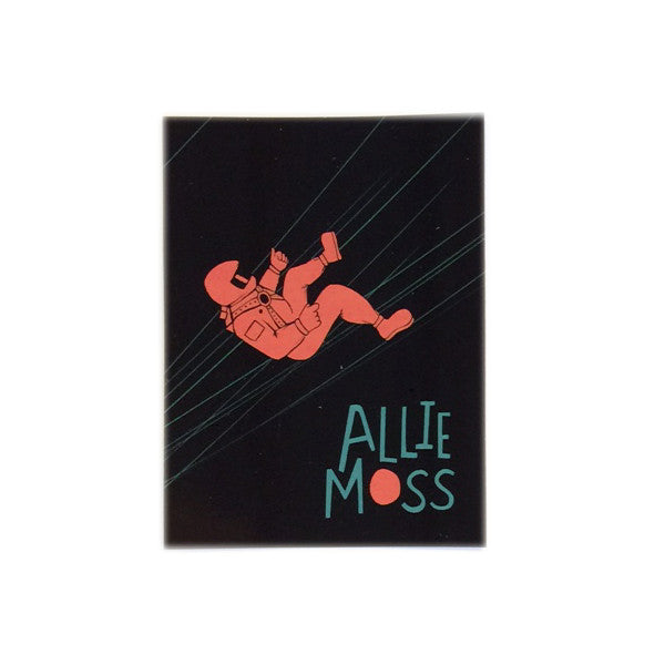 Allie moss melancholy astronaut sticker