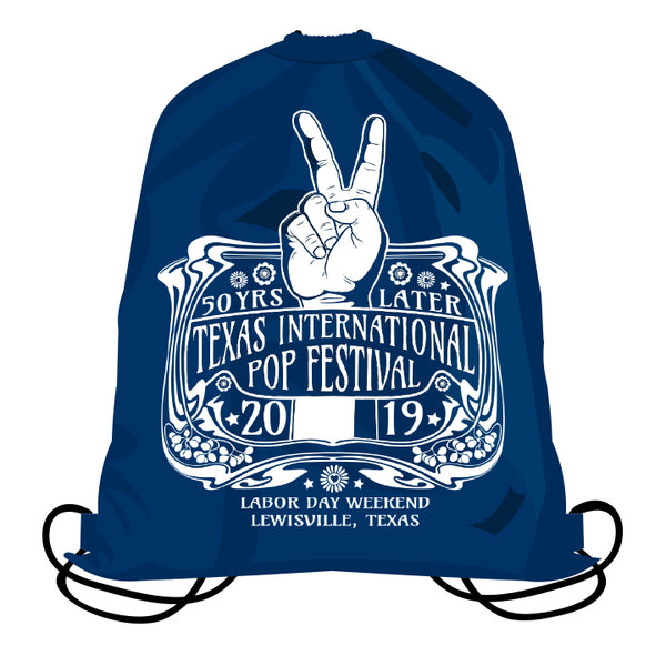 Texas International Pop Festival - Drawstring Backpack
