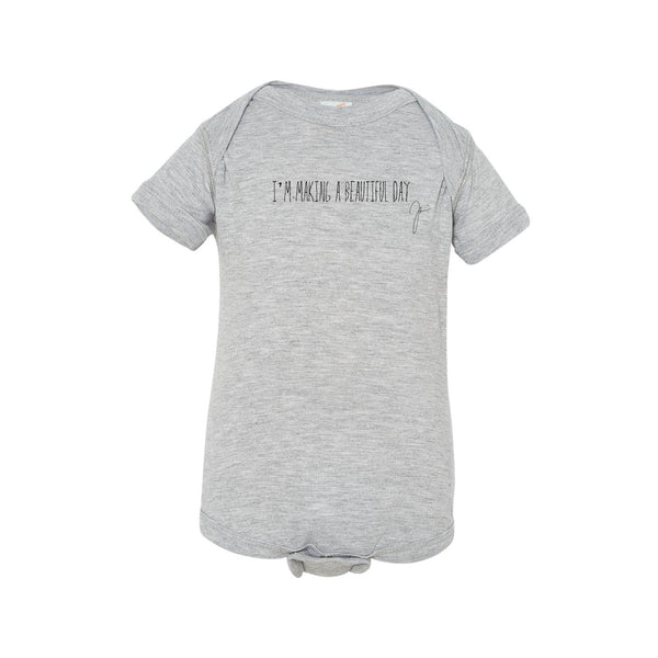 Joshua Radin - I'm Making A Beautiful Day Onesie (Grey)