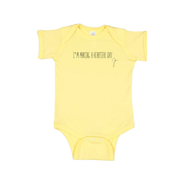 Joshua Radin - I\'m Making A Beautiful Day Onesie (Yellow)