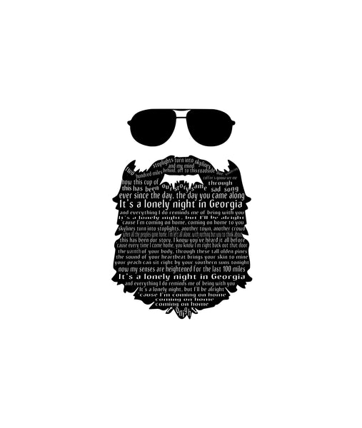 "Marc Broussard - ""Lonely Night In Georgia"" Beard Lyric Tee"