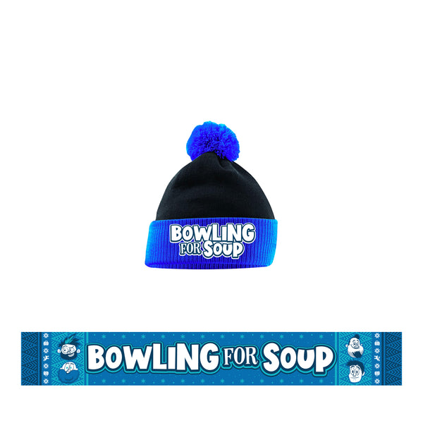 Bowling For Soup - Logo Beanie + Scarf Bundle (PRESALE 11/29/19)