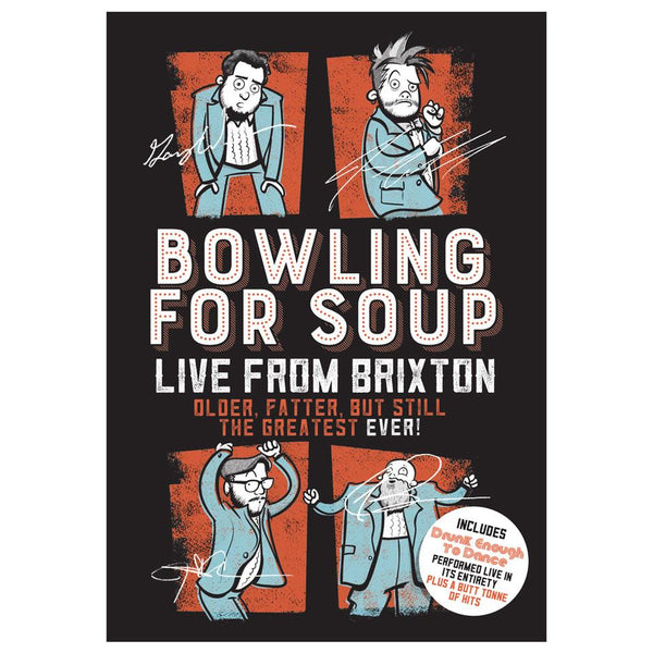 Bowling For Soup - Live From Brixton Autographed Silkscreen Poster (Limited Edition)